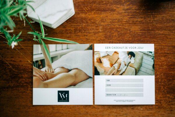 Cadeaubon massage aan huis - VayaMassage