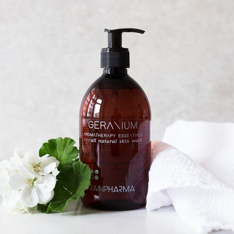 Skin wash Geranium Rainpharma bij Vayamassage